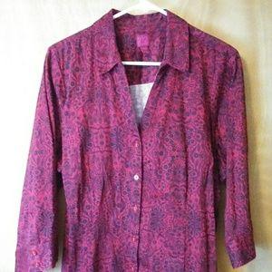 WT34 212 Collection Women 1X Button Shirt
